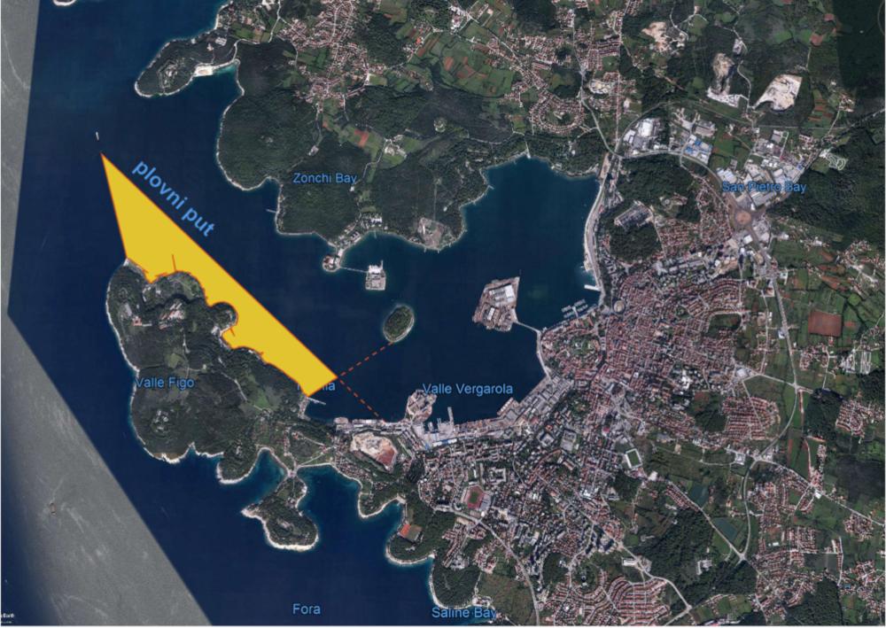 DOZVOLJENA RIBOLOVNA ZONA za sportski i rekreacijski ribolov u Pulskom zaljevu